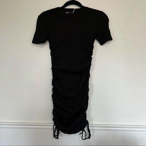 Zara Ruched Ribbed Dress